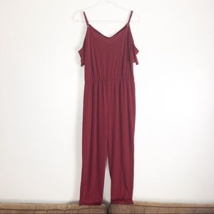 Simply Styled XL Red Cold Shoulder Jumpsuit A06